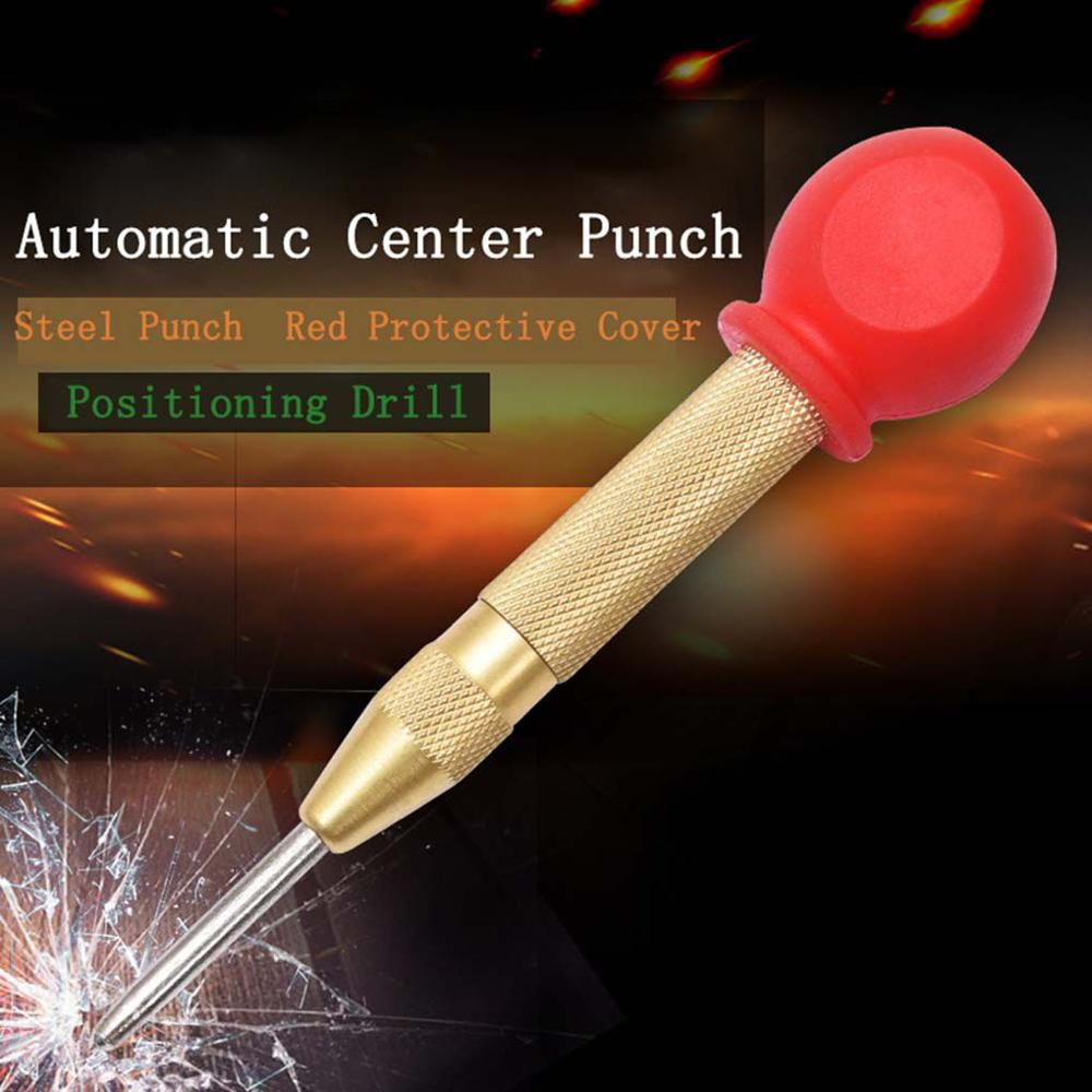 5 Inch Automatic Punching Woodworking Tools Drill Bit Electric Tools Metal Drills Center Pin Punch Spring Loaded Dent Marker
