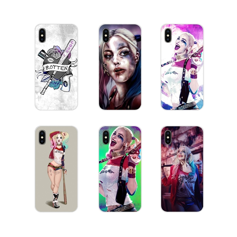 Fundas de teléfono para Xiaomi Mi4, Mi5, Mi5S, Mi6, Mi A1, A2, A3, 5X, 6X, 8 CC, 9 T, Lite, SE Pro, Escuadrón suicida de Harley Quinn, accesorios