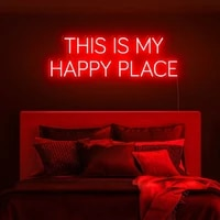 ohaneonk this is my happy place neon sign light for office living room pub bar resturant library wall art decor sign