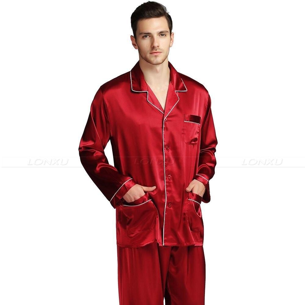 Мужские Шелк Атлас Пижамы +Пижамы +Комплект +Пижамы Комплект +Домашняя одежда +США S% 2CM% 2CL% 2CXL% 2CXXL% 2CXXXL% 2C4XL__Подходит Все +сезоны