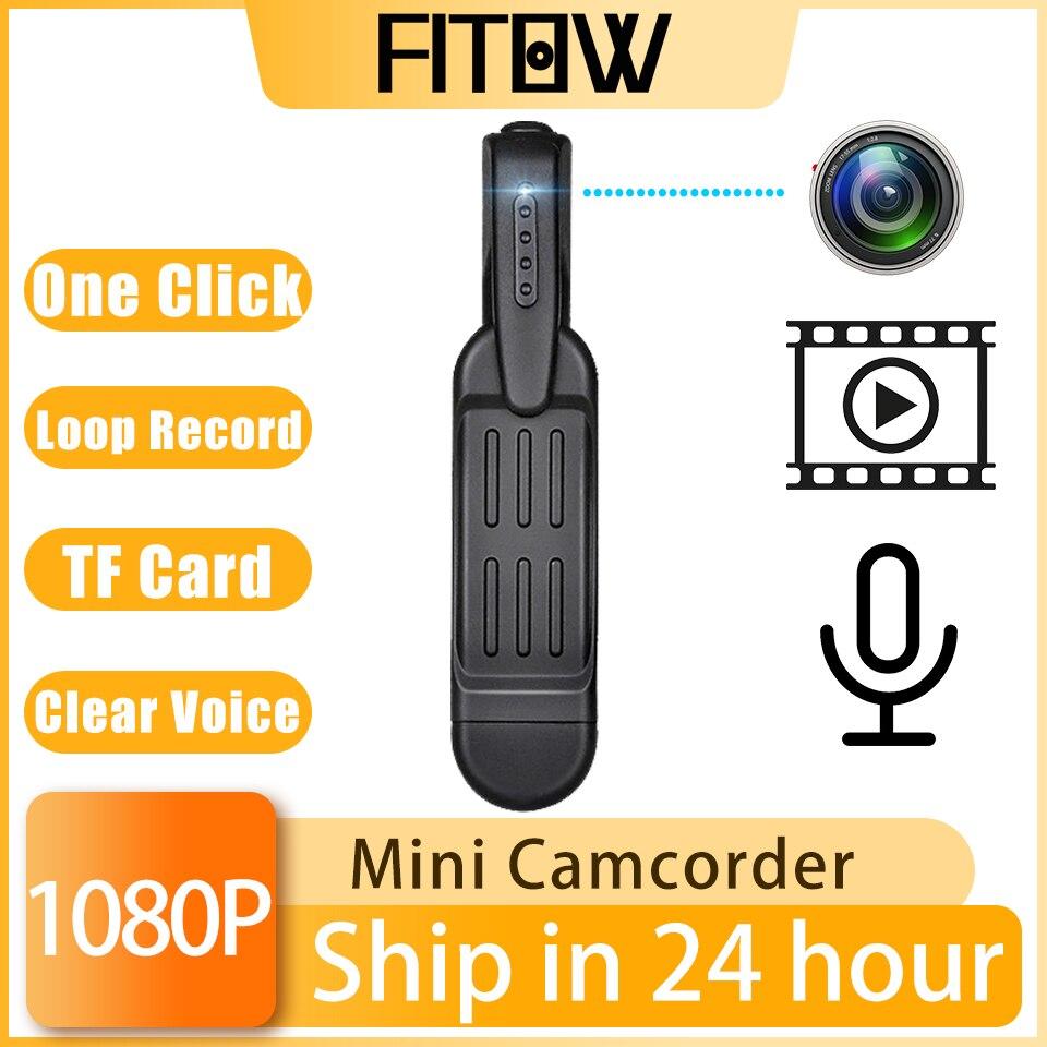 Taida 1080P Mini Wearable Digital Camera Portable Security Pen Camcorder Video Recorder Pocket Body Cam Meeting Recorder