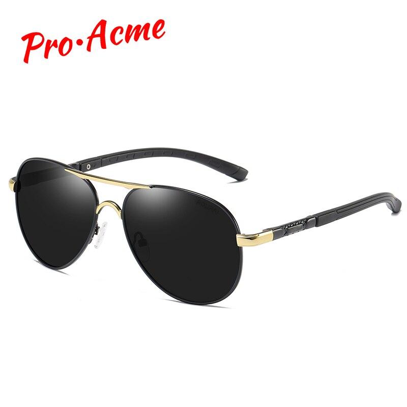 Pro acme 2020 marca de luxo design piloto polarizado óculos de sol homem armação de metal anti-reflexo masculino condução para óculos uv400 pc1482
