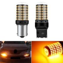 1 PIÈCES 1156 BA15S P21W BAU15S PY21W LED T20 7440 W21W W21/5W 1157 BAY15D ampoule led 144smd CanBus Lampe pour Clignotant 12V