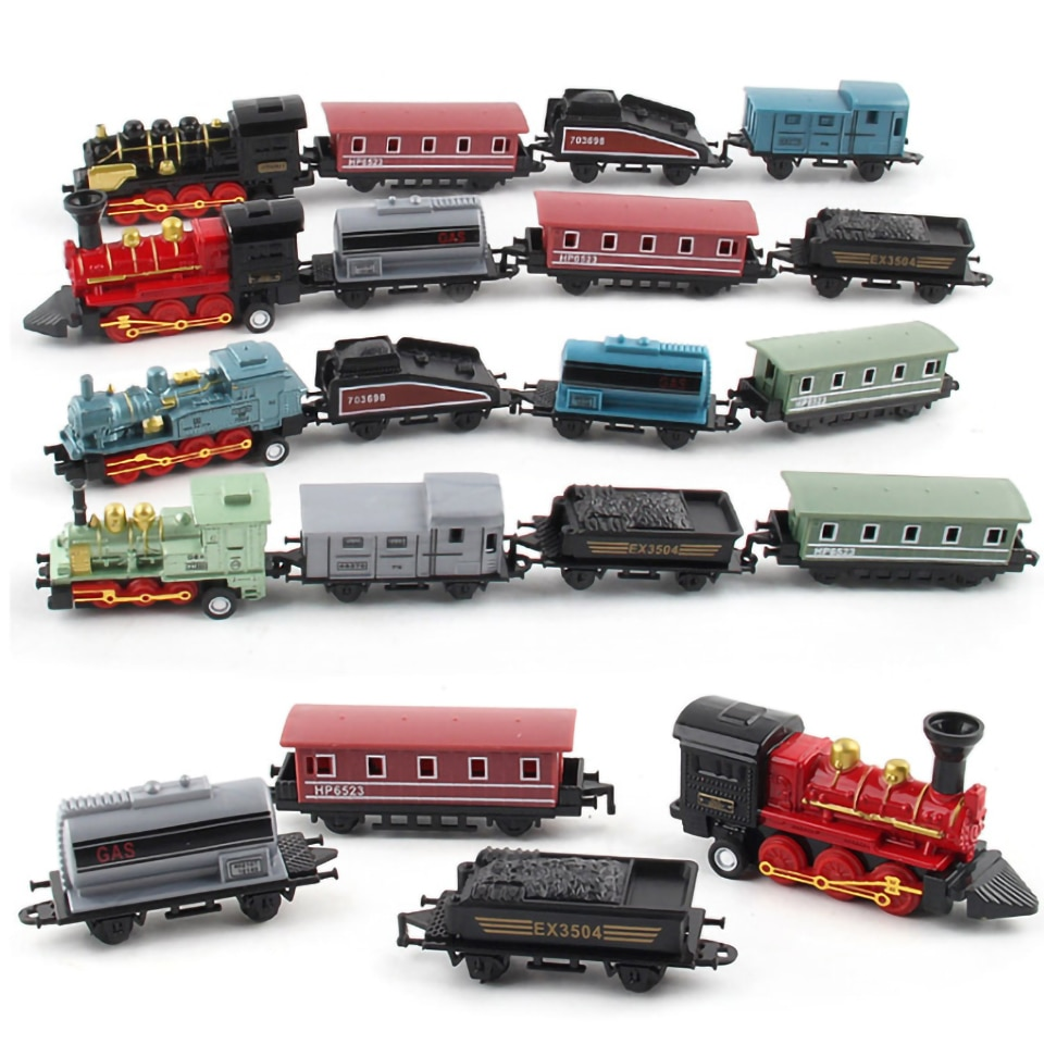 Inertia Car Mini Steam Alloy Train Toys For Children Fast And Furious Pull Back Vehicles Diecast & Toy Vehicles Toys For Boy