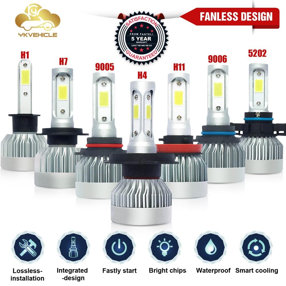 Super brillante H7 LED H4 H11 H8 HB4 9006 9005 bombilla de faro delantero de coche 10000LM 6000K luz antiniebla led h4