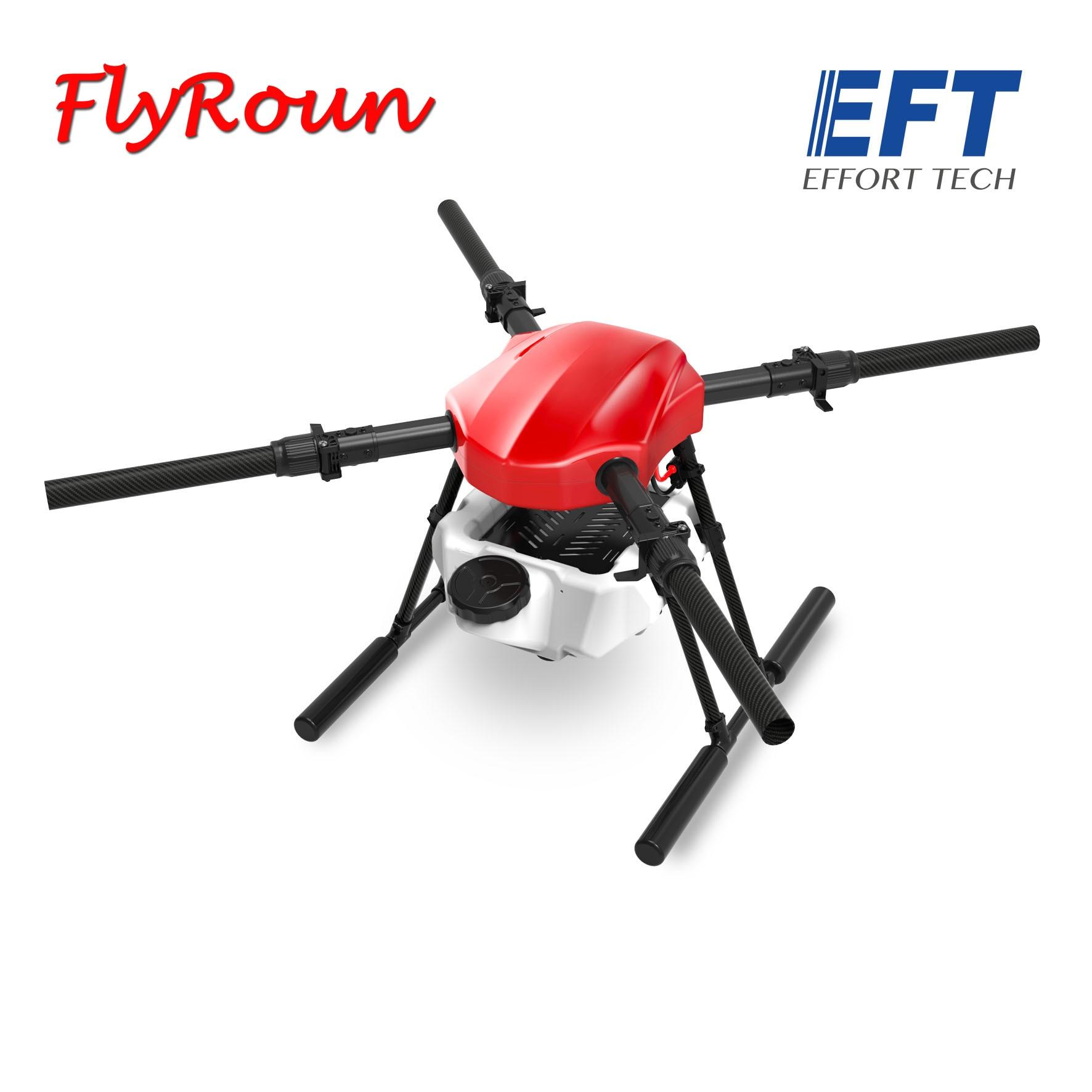 EFT E410S 10L spray plataforma de vuelo 1393mm helicóptero de cuatro hélices a prueba de agua marco plegable DIY kit para agricultura/desinfección drone