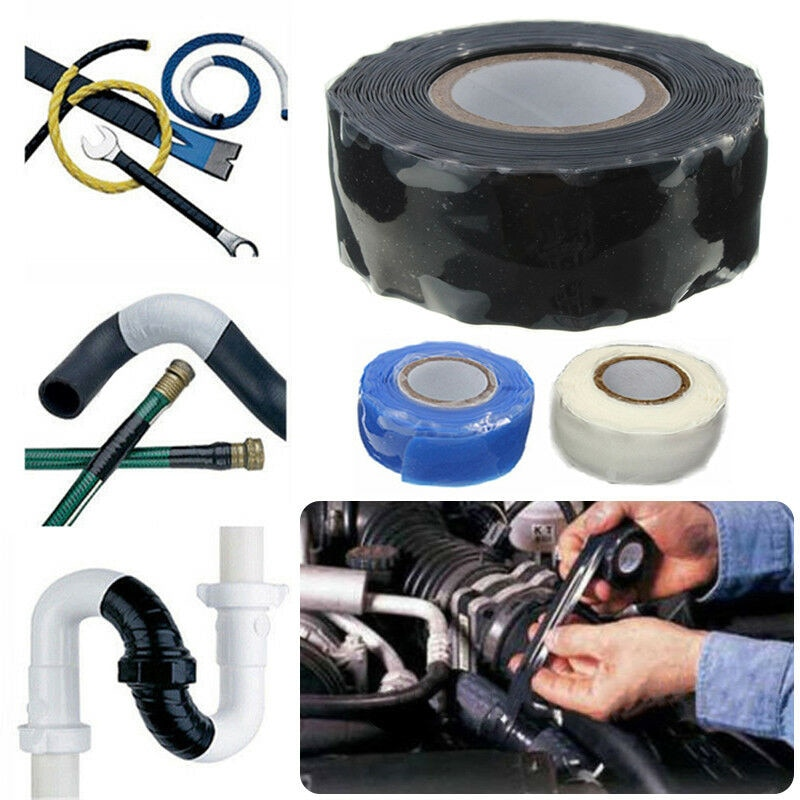 Vacclo Heat-resistant Silicone Rubber Tape Self-adhesive Insulation Stop Leak Seal Repair Waterproof Pipe Tape Home Improvement radiation insulation and moisture proof heat exchanger and waterproof air conditioner tube heat pipe insulation tape