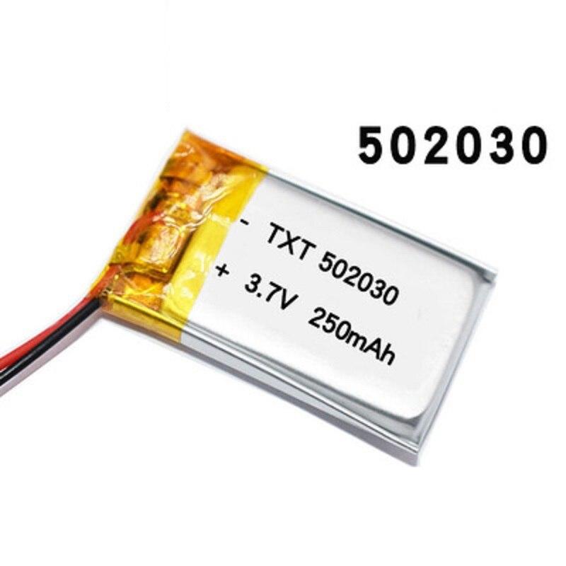 A bateria 3.7v 502030 200mah do íon do lítio do polímero pode ser certificação por atacado personalizada da qualidade do ce fcc rohs msds