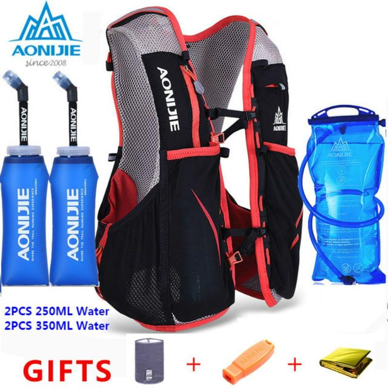 Mochila ligera AONIJIE E906 para hombre y mujer, chaleco para correr, bolsa de nailon para montar en maratón, mochila portátil ultraligera para correr, mochila 5L