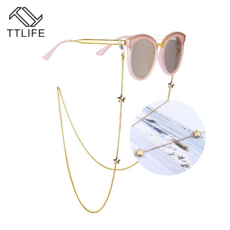 TTLIFE Модные женские Penadant цепочки для очков полый звезда солнцезащитные очки цепочка для очков для чтения Держатель шнура для очков шейный ре...