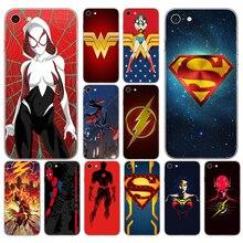 21D Batman Superman flash Wonder Woman Spiderman 02 Soft Silicone Cover Case for iphone 5 5s se 6 6s 8 plus 7 7 Plus X XS SR MAX