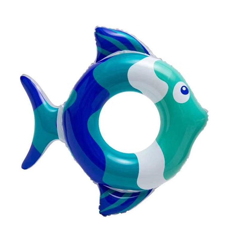 Плавательное кольцо с мультяшным рисунком маленькой рыбы, плавающее кольцо, детское утолщенное кольцо для плавания, кольцо в форме рыбы для...