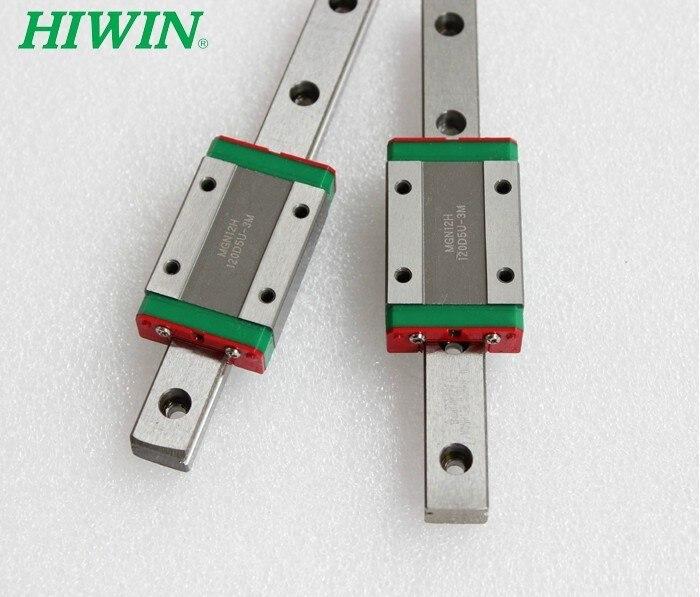 100% الأصلي Hiwin السكك الحديدية 2 قطعة MGN12-750mm + 2 قطعة MGN12-500mm + 4 قطعة MGN12C