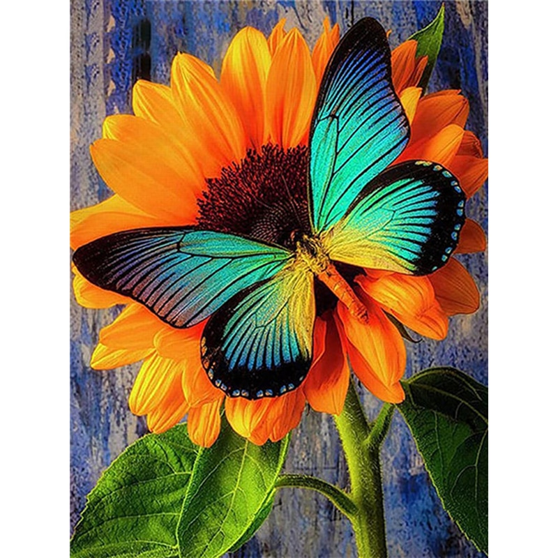 YI BRIGHT 5d Square Diamond Painting New Arrival Animal Butterfly Diamond Embroidery Sale Flower Sunflower Mosaic Craft Kit