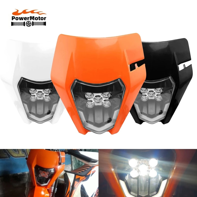 Motorcycle LED Headlight Headlamp Lamp Light For KTM EXC EXCF SX SXF XC XCF XCW XCFW 125 150 250 300 350 400 450 505 525 530 areyourshop for 250 400 450 520 525 xcf w exc ex 525 mxc xcw 59039104000 magneto stator generator coil parts 59039104200 motor