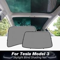 Model3 Sunshade UVB Sun Visor For Tesla Model 3 2021 Accessories Roof Skylight Shades Protector Model Three Modely