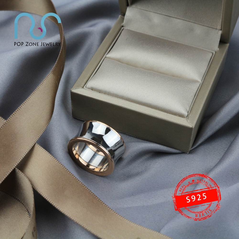 aliexpress.com - S925 Sterling Silver Ring Brand Genuine Luxury Design Mirror Glossy Noble Accessories Ring Trendy Original Jewelry With Logo 1:1