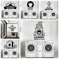 Autocollants muraux en Pvc pour salle de lavage  decoration de la maison  salon  chambre denfants  decalcomanies murales amovibles