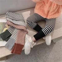 spring girls leggings cotton trousers fille kids pants girls pants skinny print striped pattern children leggings trousers