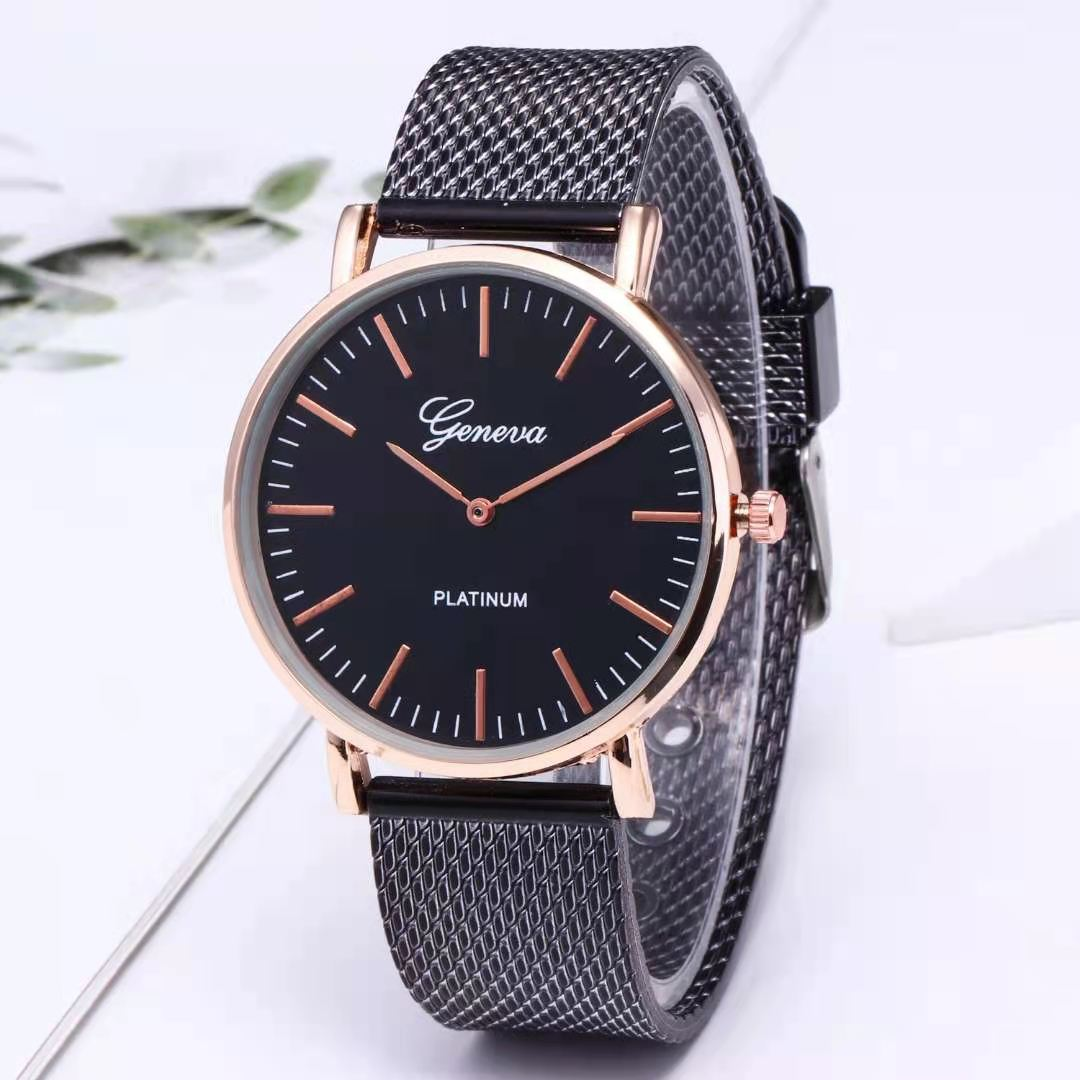WOKAI Minimalist Men's Fashion Ultra Thin Watches Simple Men Business Stainless Steel Mesh Belt Quar