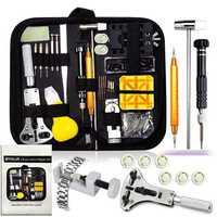 Набор инструментов для ремонта часов 150 шт., съемник звеньев браслета, нож для ракушек, инструмент для удаления пружины, батарея, сменные игл...