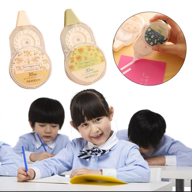 Cinta de corrección líquida opaca modificar fluido 30 metros plástico papelería estudiantes juguetes creativos niños Oficina escuela regalos lindos