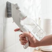 4pcs multifunctional sprayable kitchen dish cleaning brush sponge eraser window wiper gap brush glass cleaner kitchen cleaning