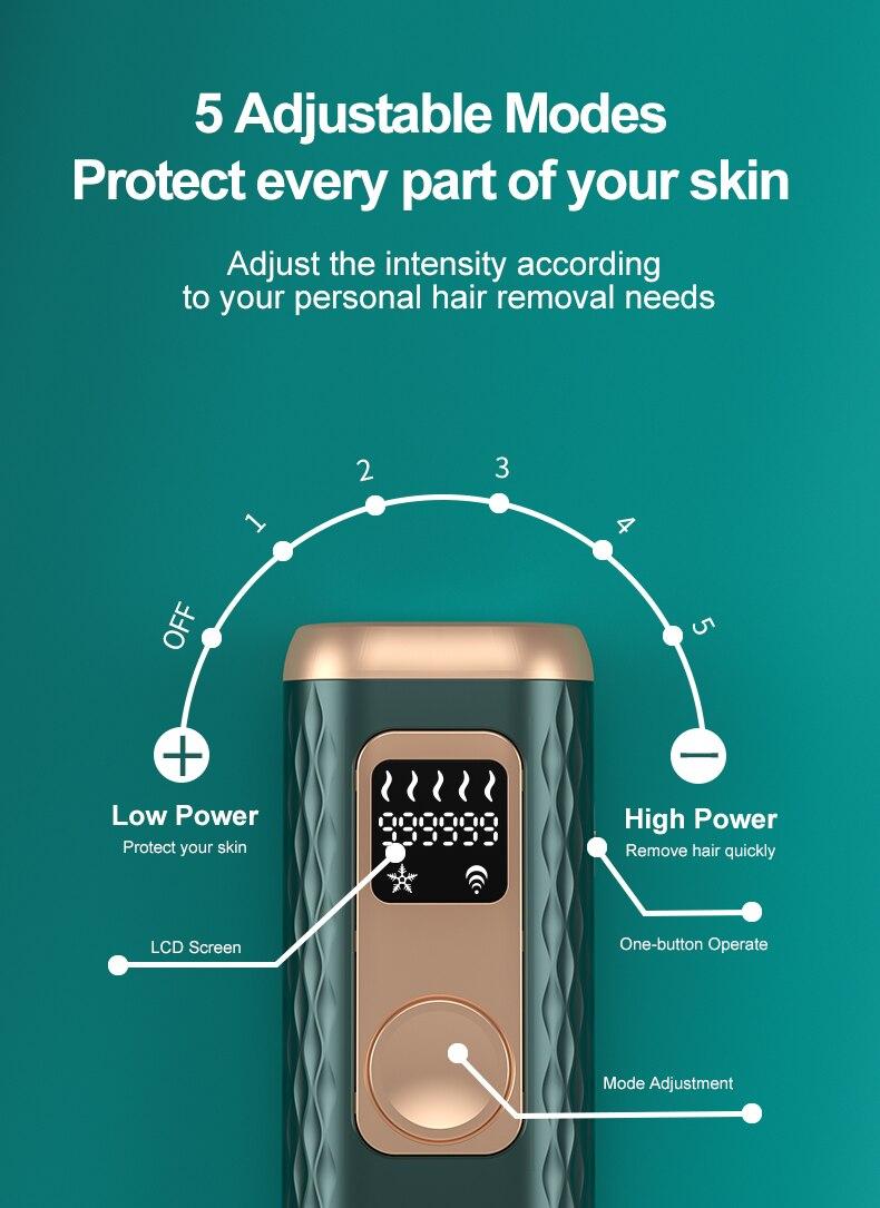 Ice Cold Laser Epilator 999999 Flashes Photoepilator Hair Removal Depiladora Permanent IPL Painless Electric Epilator Dropship enlarge