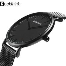 Top Marque De Luxe Quartz Montre hommes Casual Noir Japon quartz-montre en acier inoxydable En Bois Visage ultra mince horloge mâle Relogio Nouveau