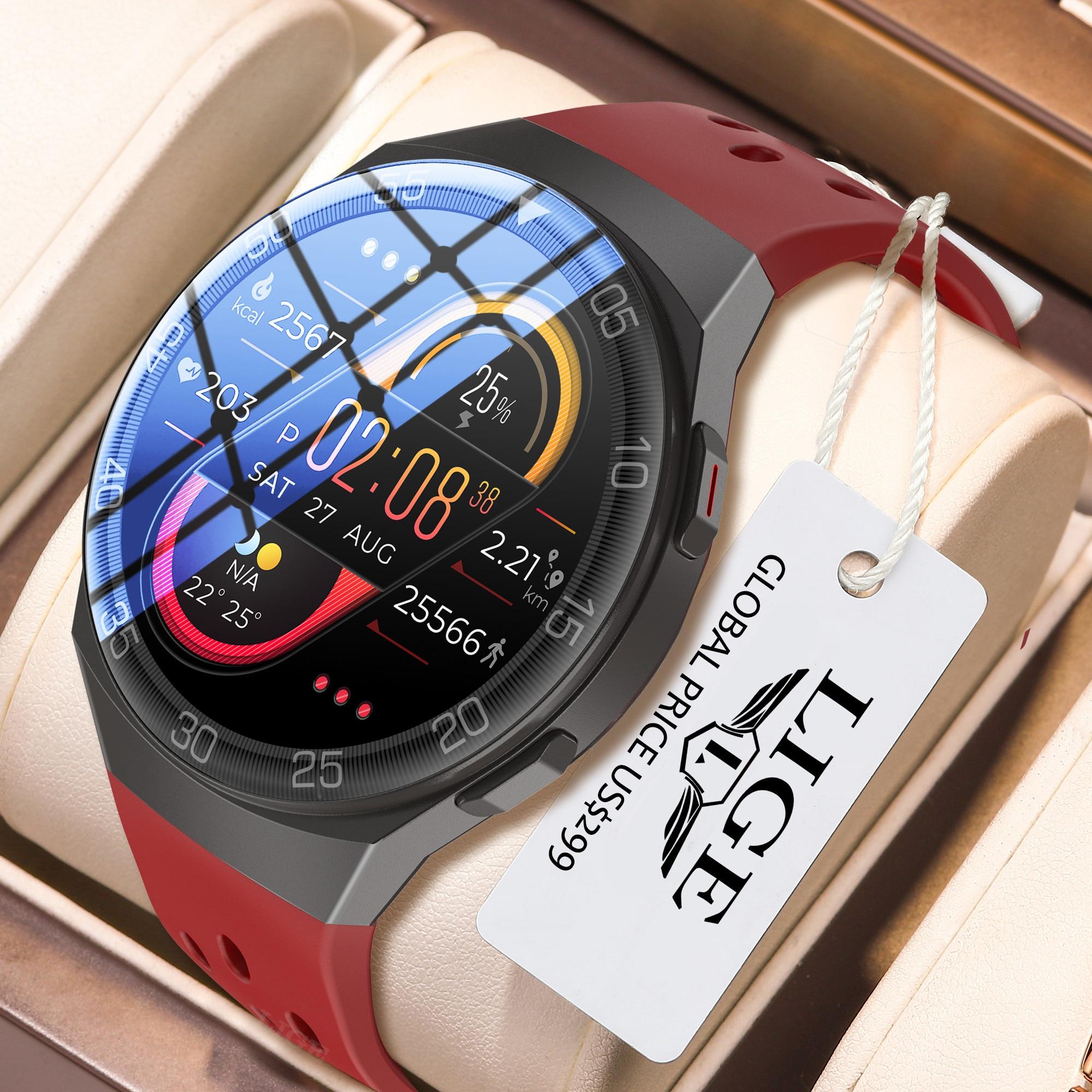 LIGE 1.28-inch Full Color Touch Screen Sport Smartwatch Men Women Fitness Tracker Waterproof Smart W