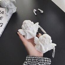 3D Nette Engel Bluetooth Drahtlose Kopfhörer Fall für AirPods 2 Fall Silikon Bär Schwein Cartoon Abdeckung für Apple Air Schoten zubehör