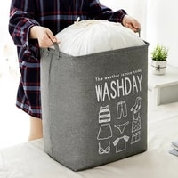 drawstring clothes bag comforter storage foldable laundry basket sundries underwear toy diy storage bucket with visible window