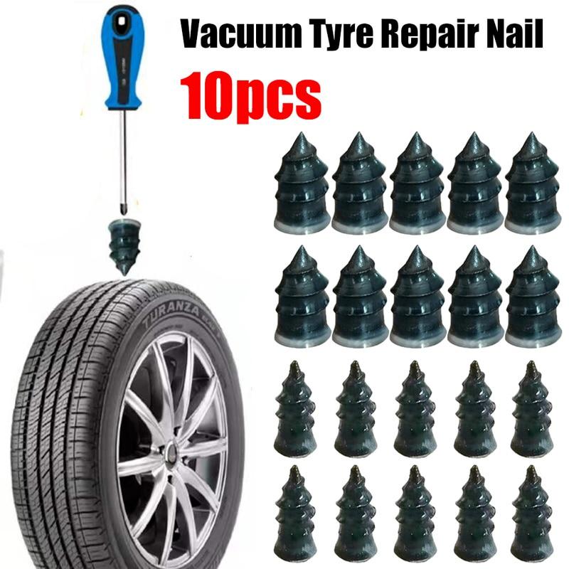 10pcs Vacuum Tyre Repair Nail for Car Trucks Motorcycle Scooter Bike Tire  Puncture Repair Tubeless Rubber Nails