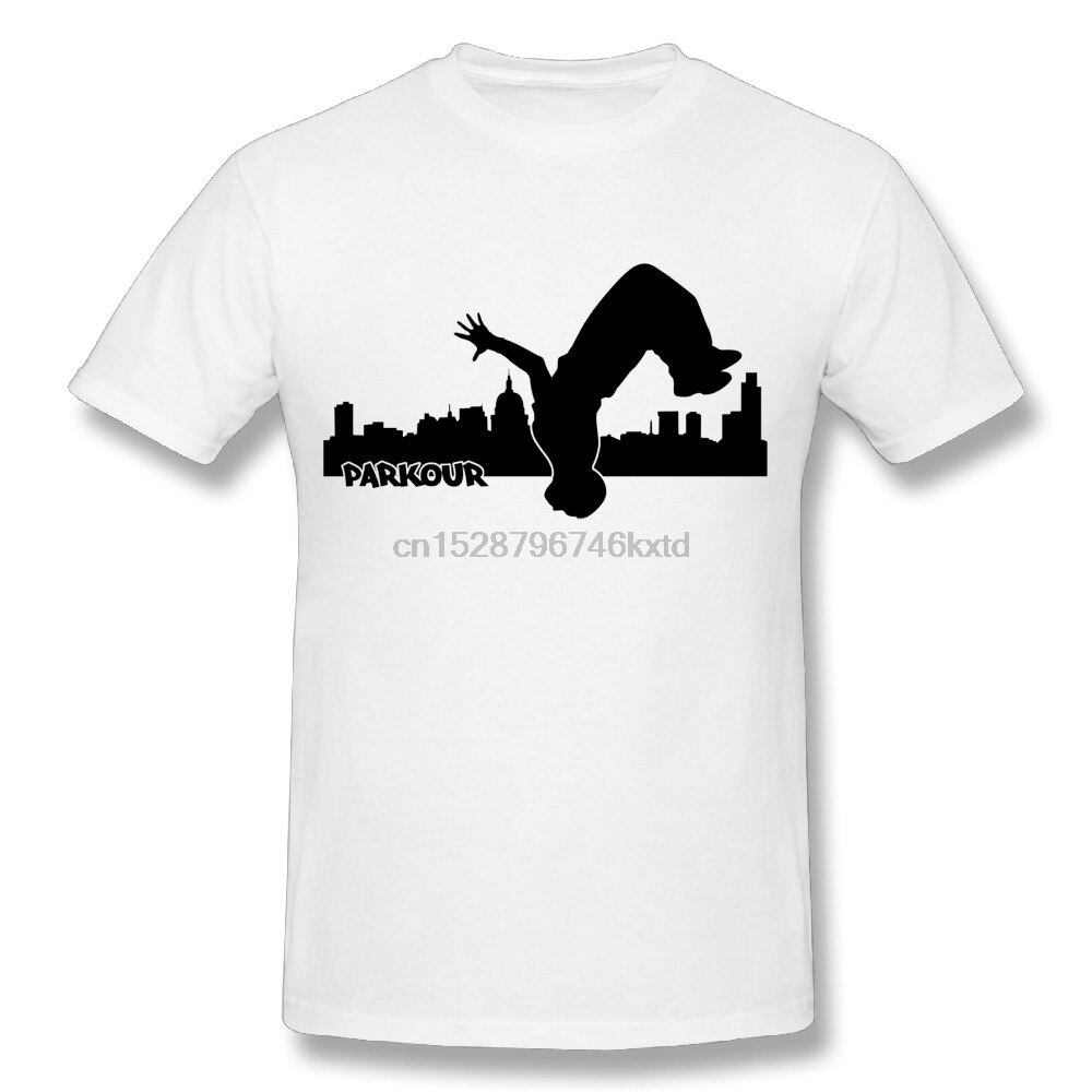 3D Druck Männer Stadt Parkour t-shirt Hip Hop Stil Rundhals Design T-shirt