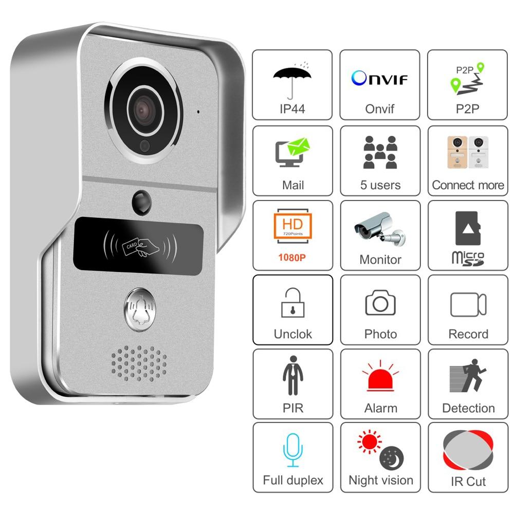KW02C Smart Wireless WIFI Video Doorphone with MicroSD Fully Duplex Intercom, Unlock, ,IR Night Vision Supports PC of Windows enlarge