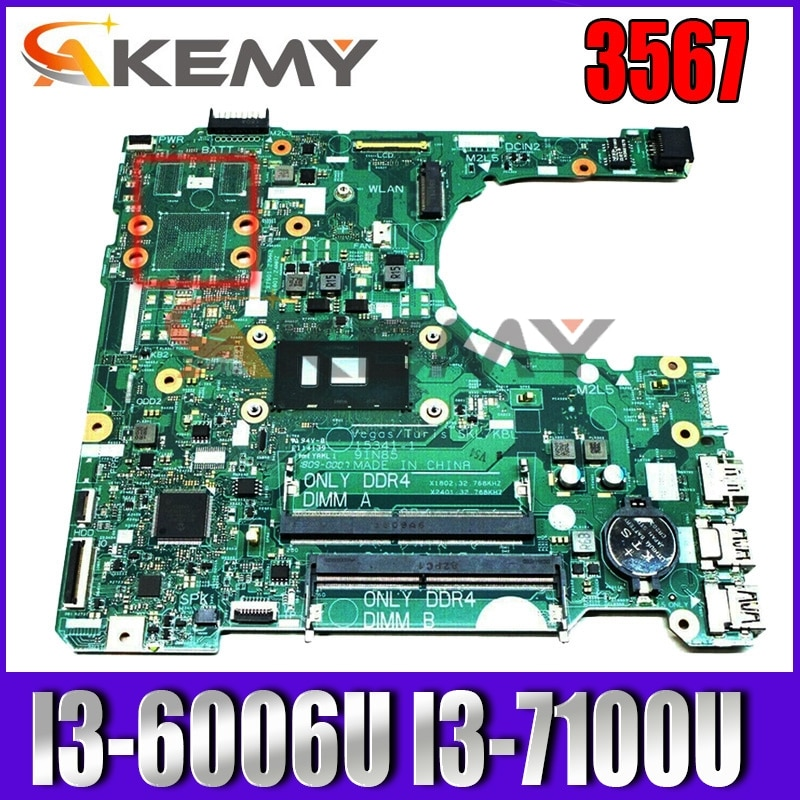 Akemy لديل انسبايرون 3567 اللوحة المحمول CN-0NP4RY 0NP4RY NP4RY DDR4 I3-6006U I3-7100U 15341-1 91N85