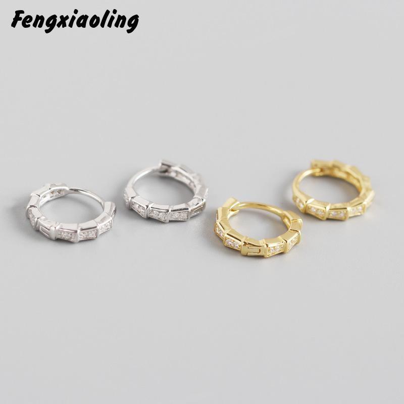 Fengxiaoling 100% véritable 925 en argent Sterling fraîcheur beauté lumière luxe Zircon boucles doreilles pour les femmes mode fête bijoux