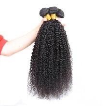 Mechones de cabello peruano rizado, 8-28 pulgadas, Cabello 100% humano no Remy, extensiones de cabello Natural de doble trama
