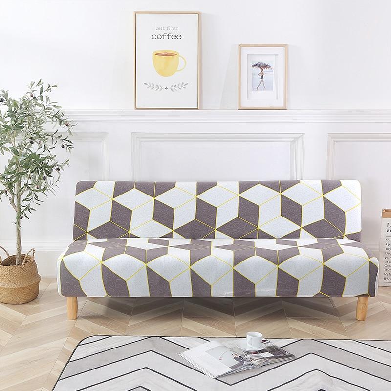 حجم عالمي غطاء أريكة سرير بدون ذراع مقعد قابل للطي أغطية قابلة للطي تمتد يغطي رخيصة الأريكة حامي مقعد مرونة فوتون يغطي