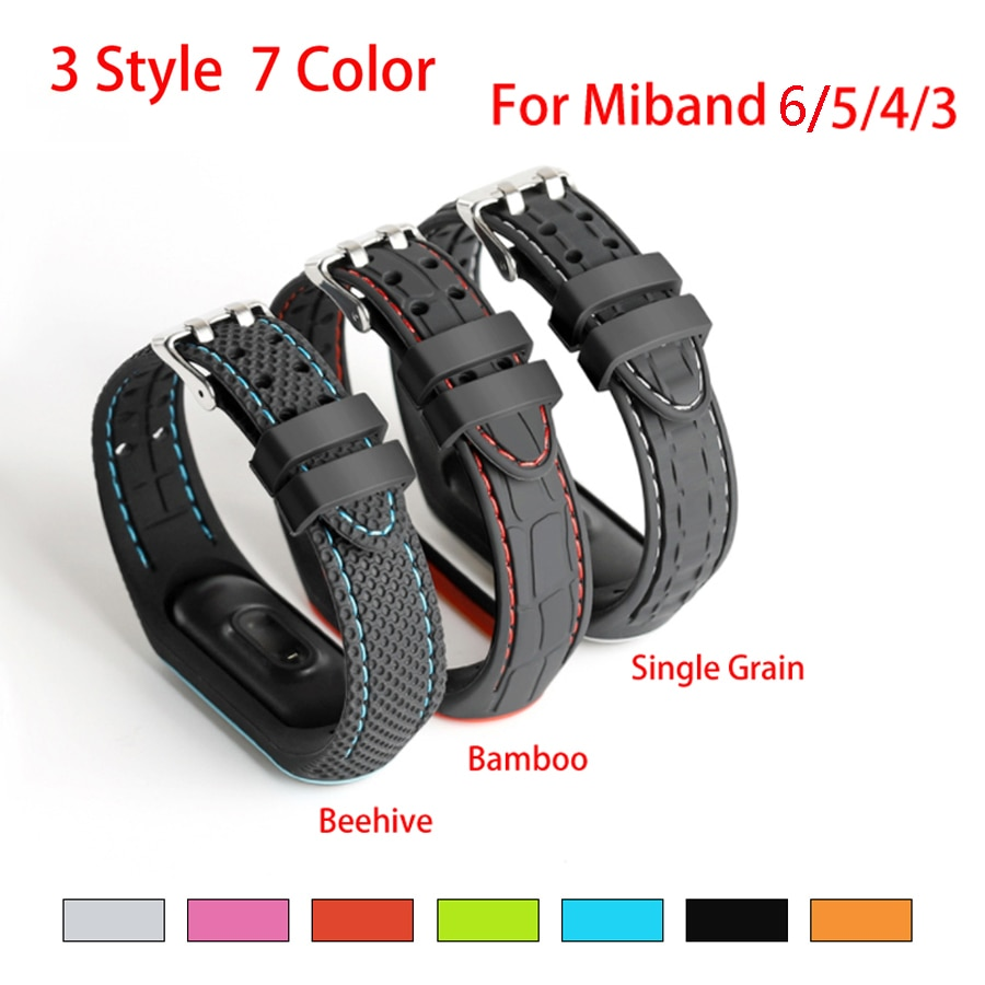 Double line Strap for Xiaomi Mi Band 5 4 3 Accessories Bracelet Wristband Bracelet for Miband 4 5 6 Replacement Breathable Strap