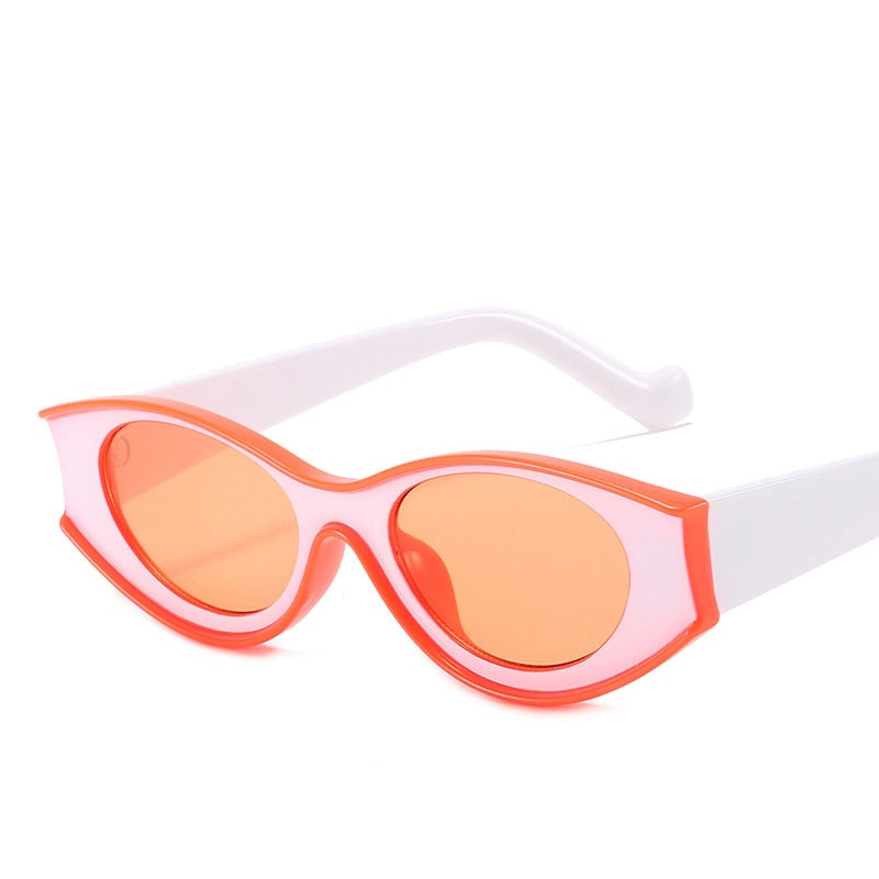 2021 new retro contrast color sunglasses mirror concave shape personality street shooting sunglasses men and women glasses