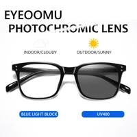 eyeoomu 2020 photochromic anti blue ray glasses uv400 lens men fashion brand design tr90 computer eyewear women retro sunglasses
