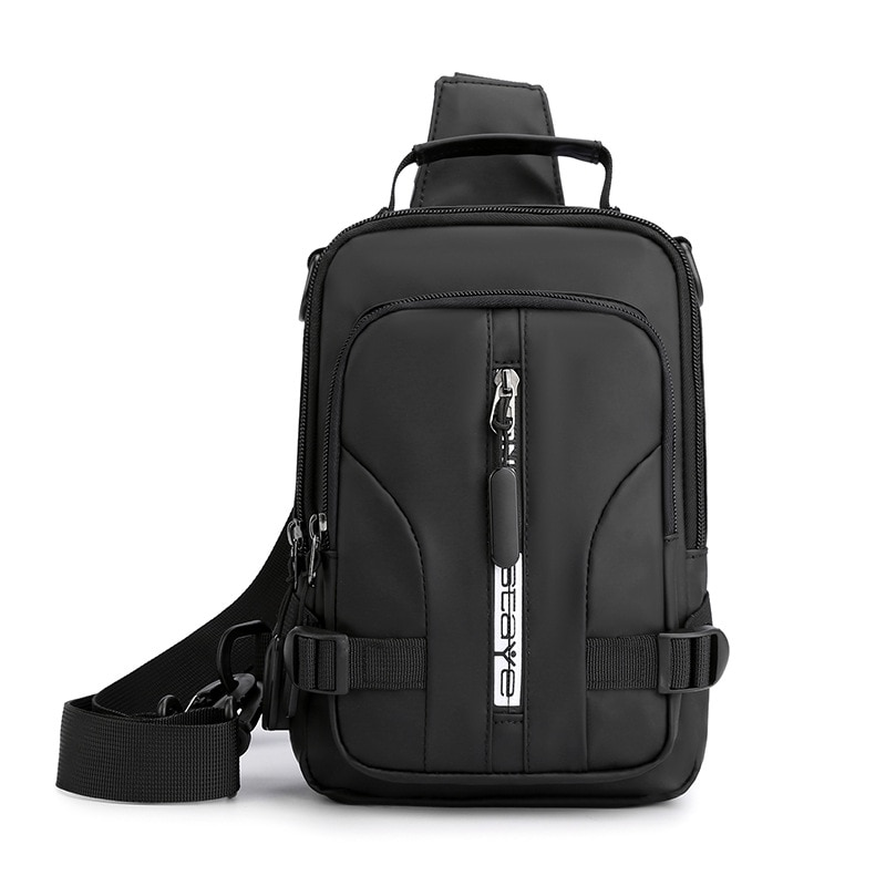 multifunction small backpack crossbody bag waterproof men chest bag 11 inch laptop ipad shoulder bag men s chest pack Multifunction Crossbody Bag Men USB Charging Chest Pack Travel Chest Pack Unisex Waterproof Large Capacity Backpack Male Pocket