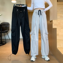 Gray Overalls for Women Ankle Banded Pants 2021 New Spring Versatile High Waist Slimming Casual Pant