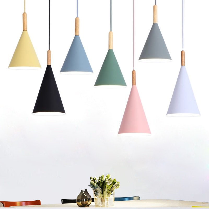 Minimalist Pendant Lights E27 Droplight Multi Color Lustre Restaurant kitchen Bar Showcase Light Fixtures