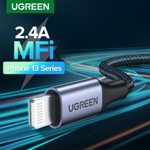 Ugreen MFi USB Cable for iPhone 13 12 Pro Max X XR 11 2.4A Fast Charging Lightning Cable USB Data Cable Phone Charger Cable