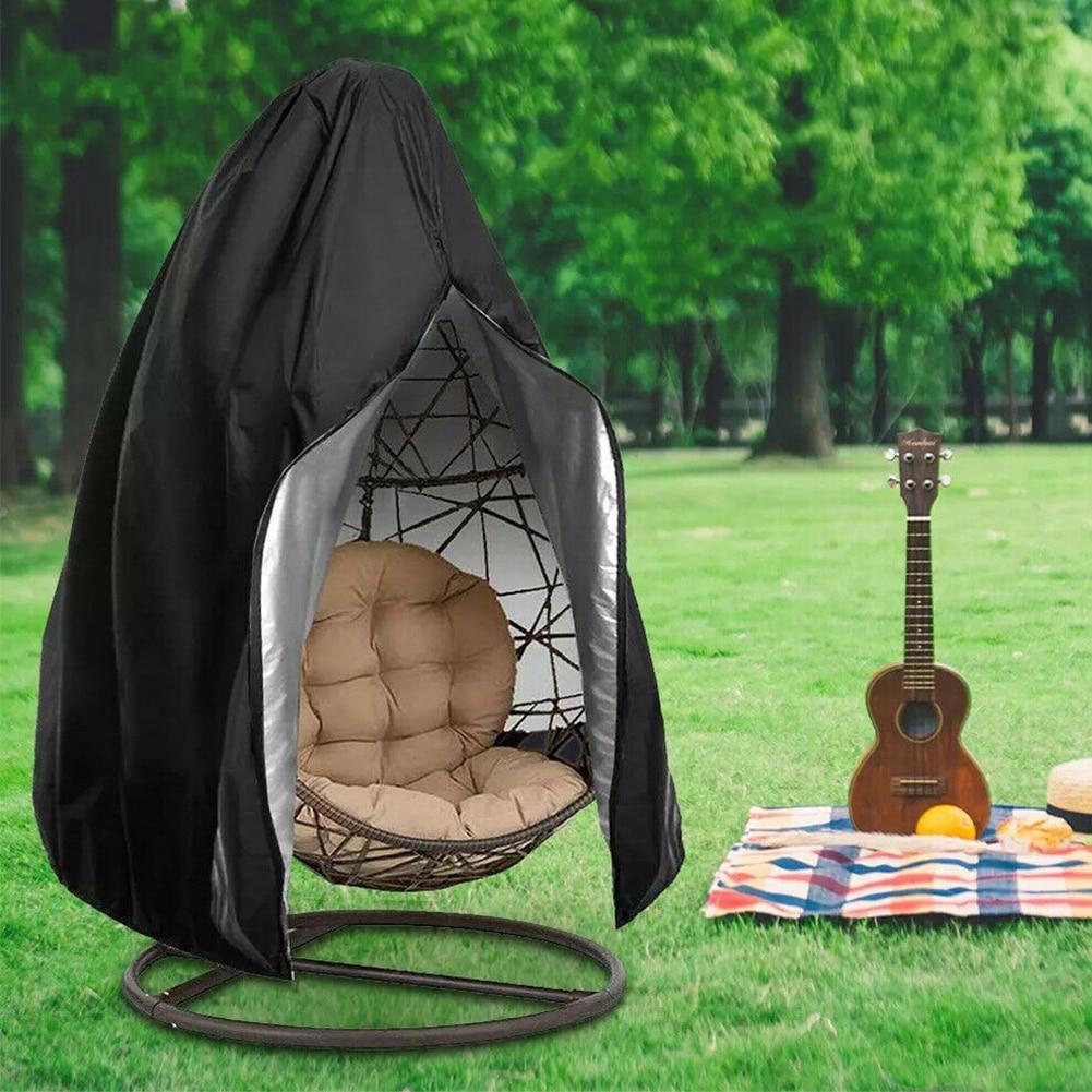 Housse de chaise pivotante facile à nettoyer oeuf en osier Oxford tissu extérieur Patio meubles de jardin Protection suspendus hamac support Anti UV