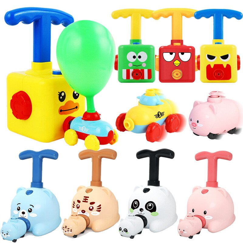 Power Balloon Car Toy Inertial Power Balloon Education Science Education Science Puzzle fun Toys for Children christmas gift marmen daniel teacher beliefs about science education