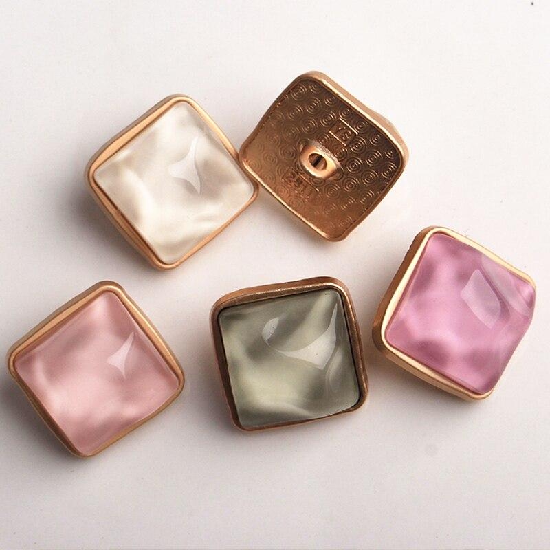 1 lote = 10 Uds. De oro de gama alta de cristal de ropa de metal botones de decorar costura para regalo manualidades accesorios de costura