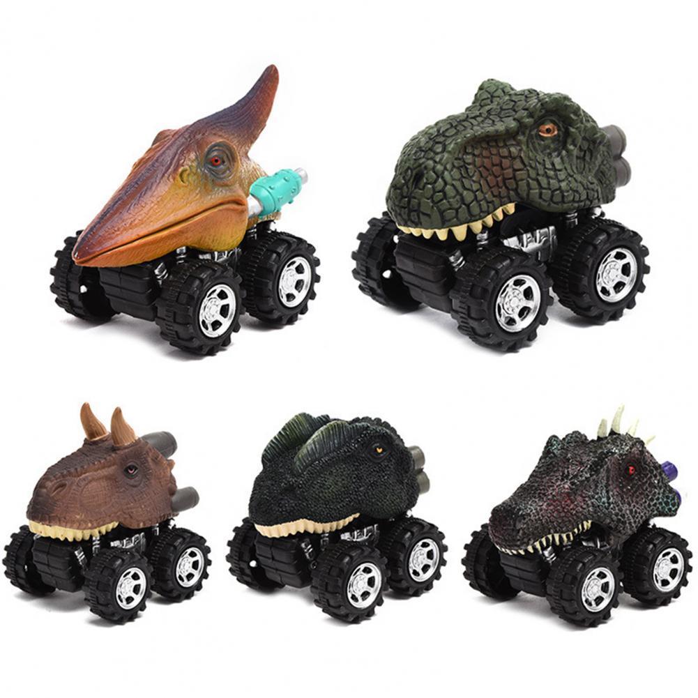 Мультяшный динозавр гоночный автомобиль Тяговый автомобиль Дети Мальчики Модель игрушка подарок автомобиль Тяговый автомобиль Дети Мальч...